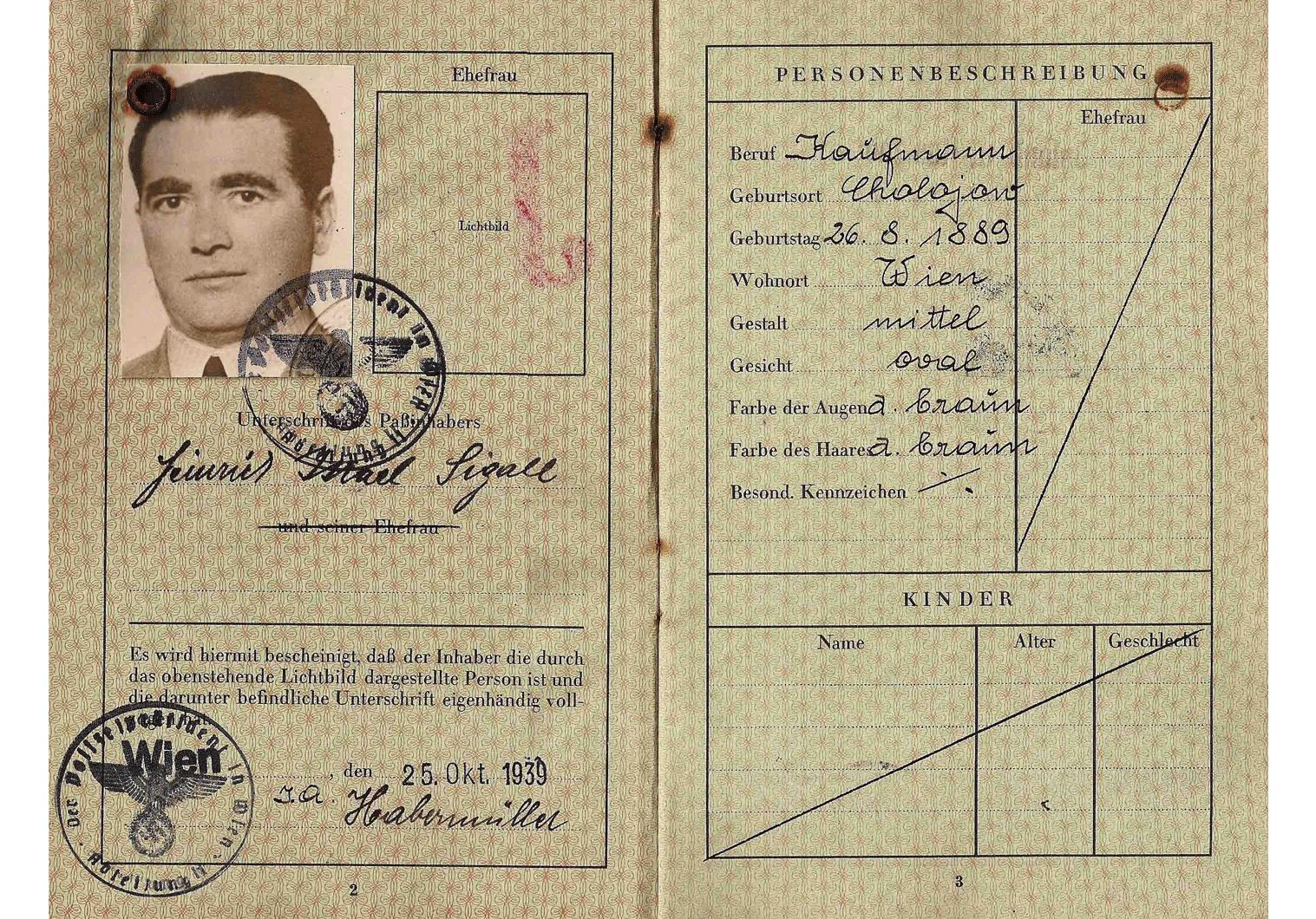 J stamped German passport