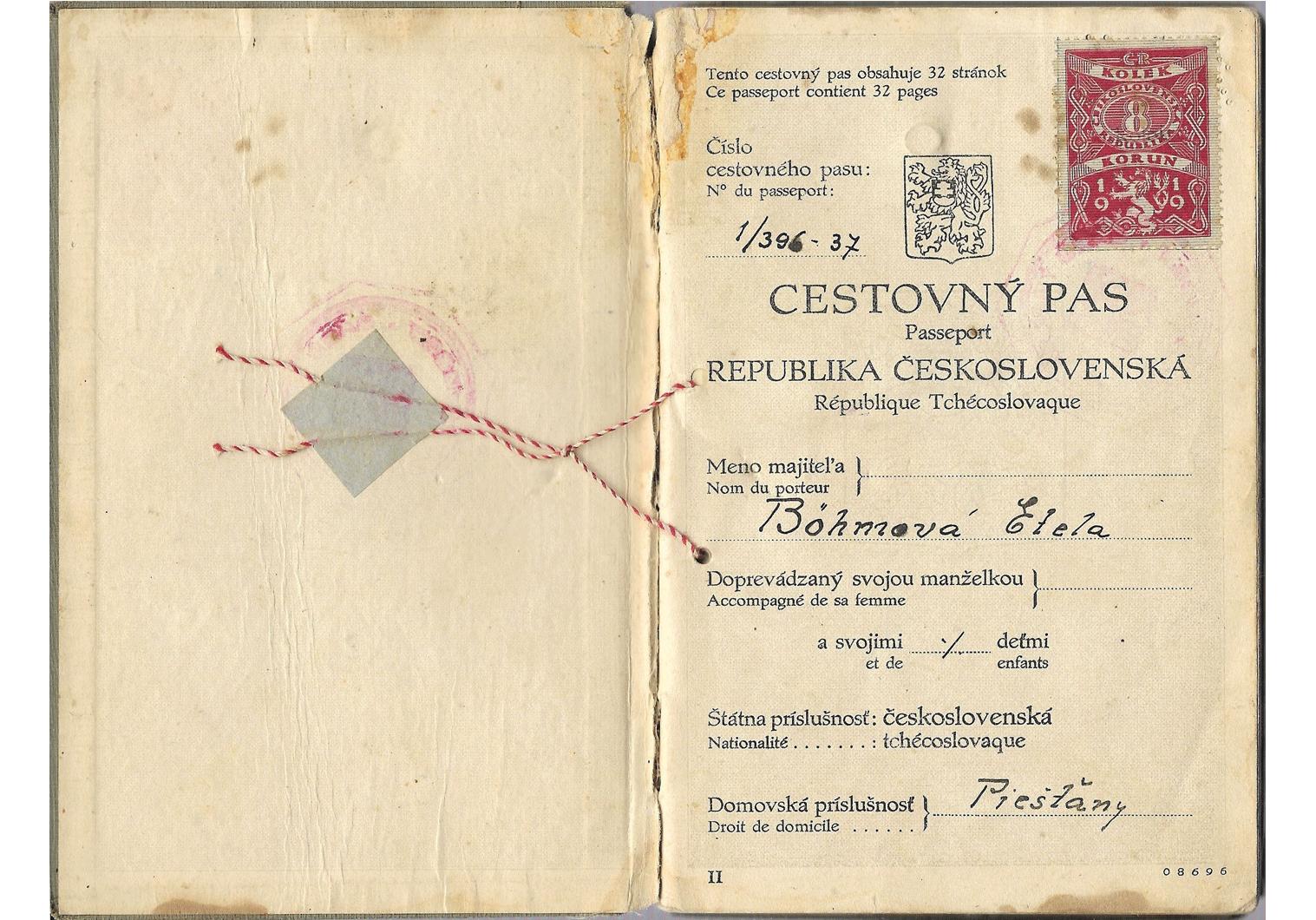 WW2 refugee passport
