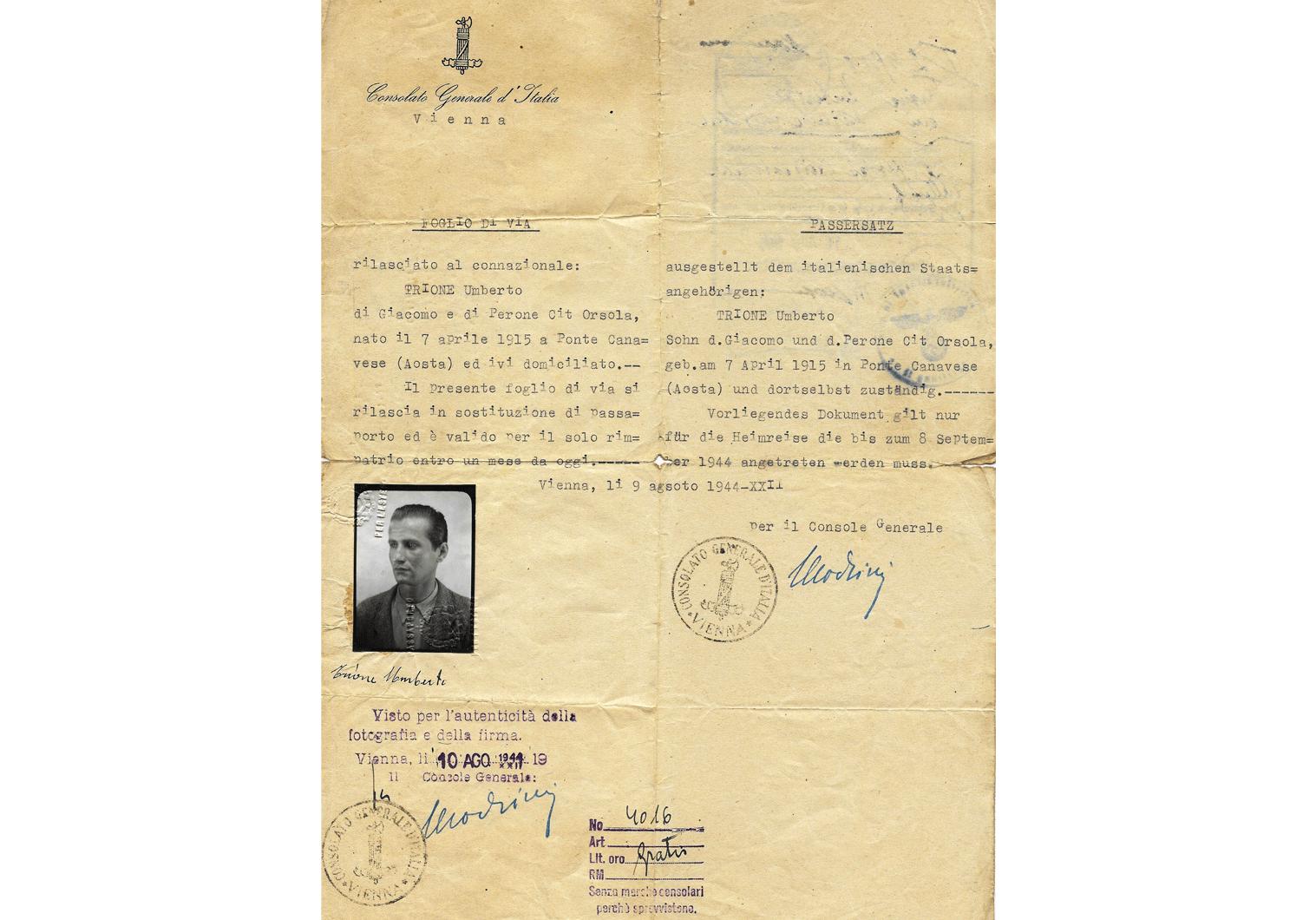 RSI consular travel document